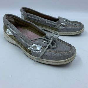 Sperry Top Siders Womens Size 8M Leather Sparkle